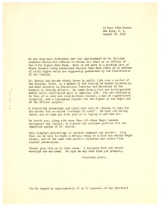 Thumbnail of Circular letter concerning William A. Hunton