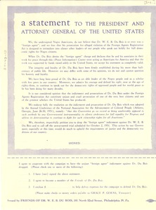 Thumbnail of A  Statement to the President and Attorney General of the United States