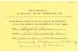 Thumbnail of Petition against Du Bois indictment