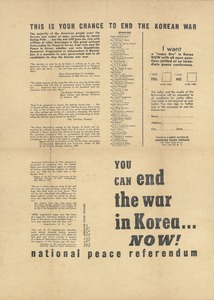 Thumbnail of National Peace Referendum broadside