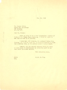Thumbnail of Letter from W. E. B. Du Bois to Masses and Mainstream