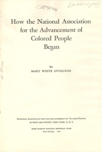 Thumbnail of How the National Association for the Advancement of Colored People began