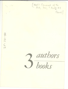 Thumbnail of 3 authors, 3 books