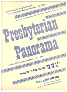 "Thumbnail of Presbyterian Panorama Presenting the dramatization ""Is it I?"""