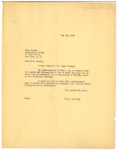 Thumbnail of Letter from W. E. B. Du Bois to Progressive Party