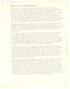 Thumbnail of Draft statement on Negro representation
