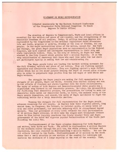Thumbnail of Statement on Negro representation