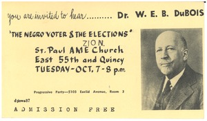 Thumbnail of The  Negro voter & the elections postcard