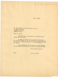 Thumbnail of Letter from W. E. B. Du Bois to United Nations Association of Jamaica