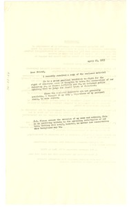 Thumbnail of Transcripts of interviews concerning bacteriological warfare