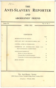 Thumbnail of Anti-Slavery reporter and Aborigines' friend volume 9, number 1