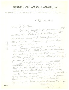 Thumbnail of Letter from Dr. Alphaeus Hunton to W. E. B. Du Bois