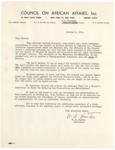 Thumbnail of Circular letter from the Council on African Affairs