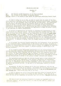 Thumbnail of Memorandum from the Council of African Affairs