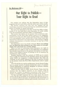 Thumbnail of In defense of our right to publish -- your right to read
