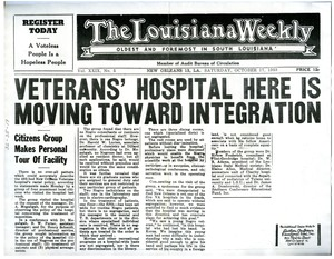 Thumbnail of Veteran's hospital here is moving toward integration