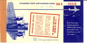 Thumbnail of United Airlines ticket