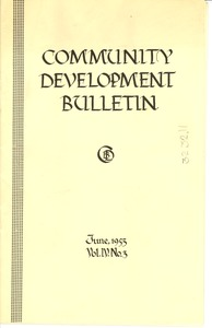 Thumbnail of Community development bulletin