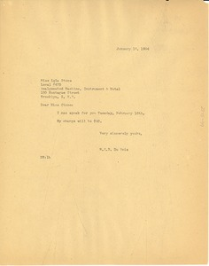 Thumbnail of Letter from W. E. B. Du Bois to Lulu Stone