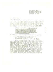 Thumbnail of Letter from Robert C. Bennett to W. E. B. Du Bois