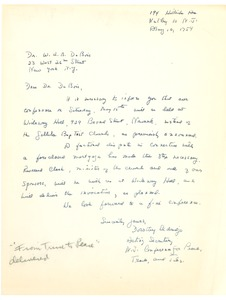 Thumbnail of Letter from New Jersey Conference on Peace, Trade, and Jobs to W. E. B. Du Bois