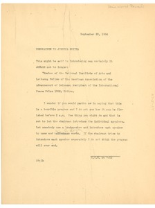 Thumbnail of Memorandum from W. E. B. Du Bois to New World Review