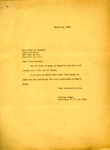 Thumbnail of Letter from Lillian Hyman to Teachers' Union of the City of New York