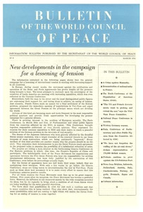 Thumbnail of Bulletin of the World Council of Peace, number 8