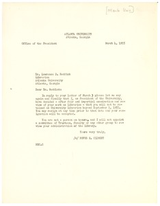Thumbnail of Letter from Atlanta University to Lawrence D. Reddick