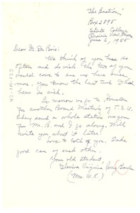 Thumbnail of Letter from Virginia Glovina Perry Banks to W. E. B. Du Bois