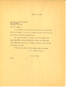 Thumbnail of Letter from W. E. B. Du Bois to William Howard Melish