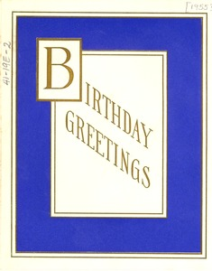 Thumbnail of Birthday card from Jessica Smith et al. to W. E. B. Du Bois
