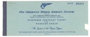 Thumbnail of Passenger contract ticket and baggage check