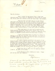 Thumbnail of Letter from Alphaeus Hunton to W. E. B. Du Bois