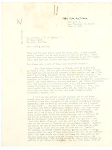 Thumbnail of Letter from Ethel Ray Nance to W. E. B. and Shirley Du Bois