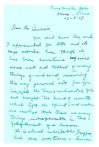 Thumbnail of Letter from Kwame Nkrumah to W. E. B. Du Bois