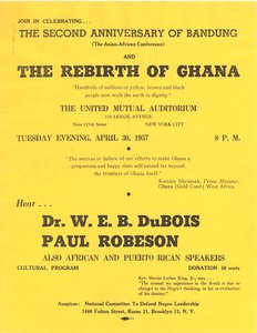 Thumbnail of Second anniversary of Bandung and the rebirth of Ghana flier
