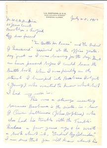 Thumbnail of Letter from I. A. Smothers to W. E. B. Du Bois