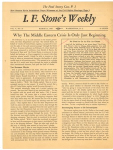 Thumbnail of I. F. Stone's Weekly, volume v, number 10