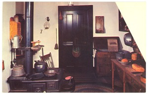 Thumbnail of Postcard of kitchen, Abraham Lincoln home