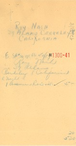Thumbnail of Receipt from Brentano's to Roy Nash