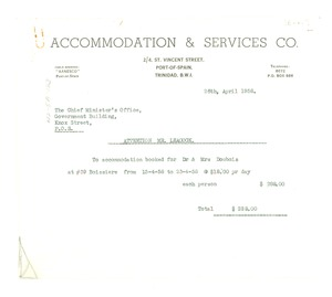 Thumbnail of Invoice from Accommodation & Services Co.