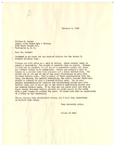 Thumbnail of Letter from W. E. B. Du Bois to William M. Brewer
