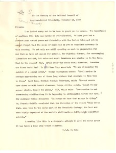 Thumbnail of Letter from W. E. B. Du Bois to National Council of American-Soviet Friendship (U.S.)
