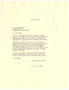 Thumbnail of Letter from W. E. B. Du Bois to Lillian Swan