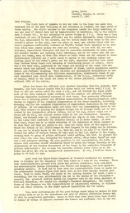 Thumbnail of Circular letter from Dorothy and Alphaeus Hunton to W. E. B. Du Bois