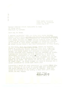 Thumbnail of Letter from LuAnne Jautz to W. E. B. Du Bois