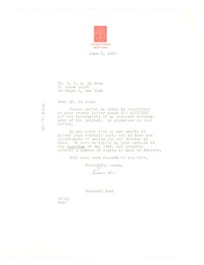 Thumbnail of Letter from Rockwell Kent to W. E. B. Du Bois
