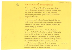 Thumbnail of Etchings of Joseph Pennell