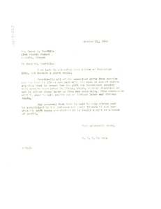 Thumbnail of Letter from W. E. B. Du Bois to Oscar A. Ruuttila